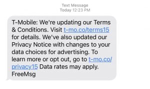 T-Mobile Terms Update